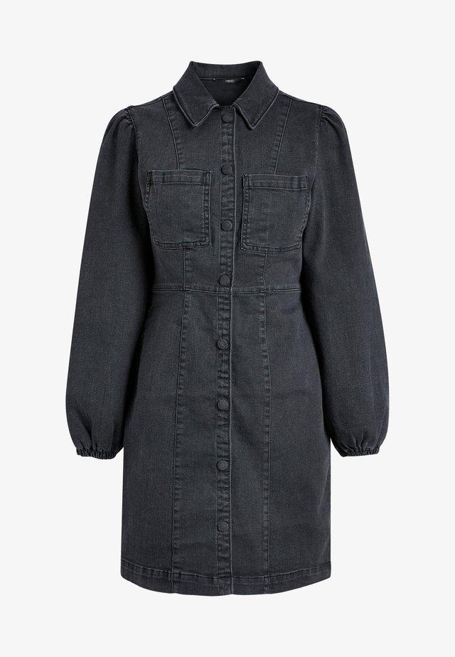 Denimové šaty - black denim