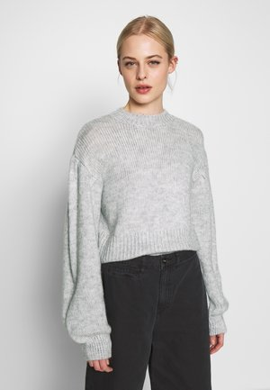 COZY PUFFY SLEEVE - Strikkegenser - grey