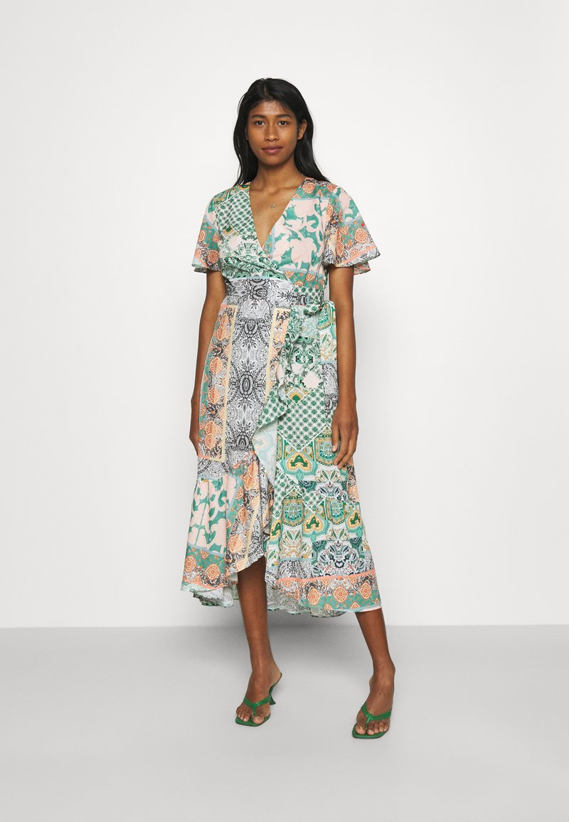 Never Fully Dressed - CORDELIA WRAP DRESS - Day dress - multi