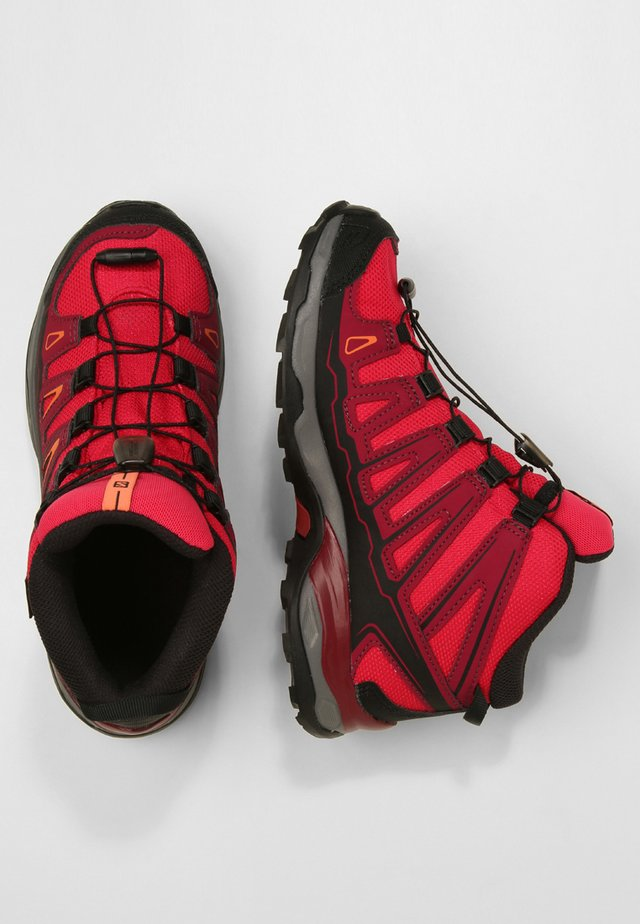 X-ULTRA MID GTX - Hiking shoes - virtual pink/beet red/living coral