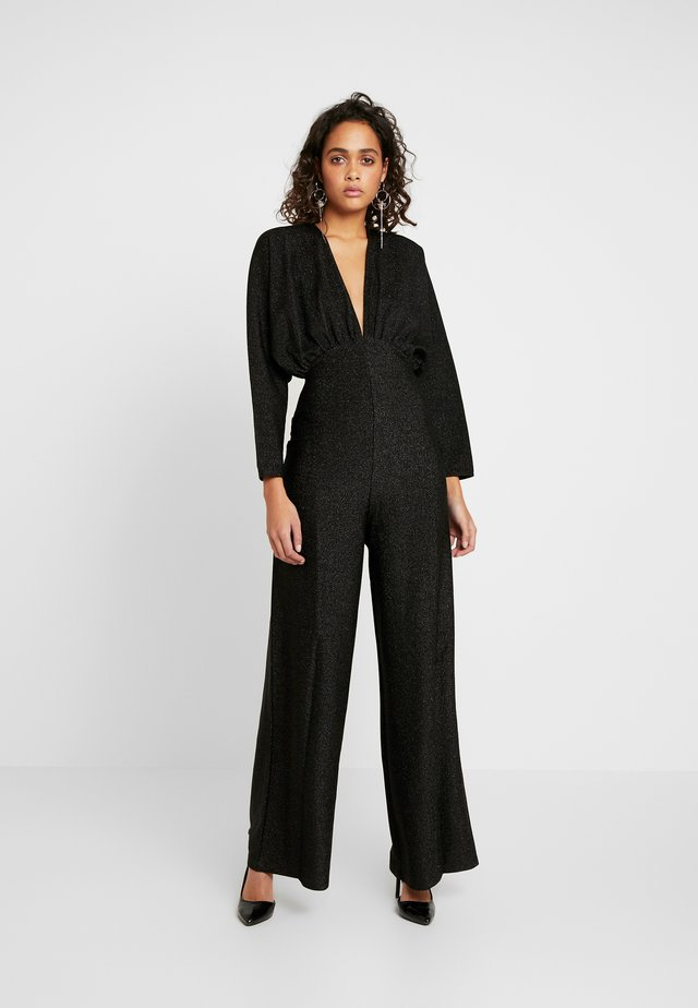 DEEP V NECK BATWING - Jumpsuit - black