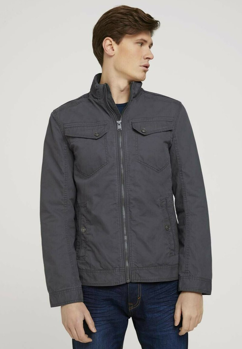TOM TAILOR - BIKER - Light jacket - tarmac grey