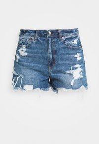 MOM - Denim shorts - destroyed medium wash