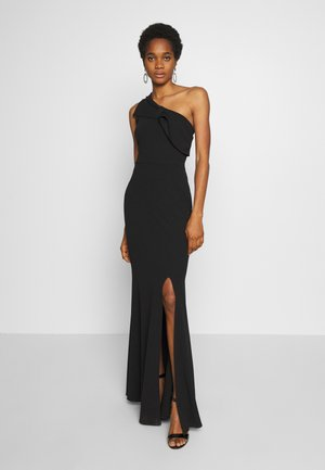 ONE SHOULDER BOW MAXI DRESS - Iltapuku - black