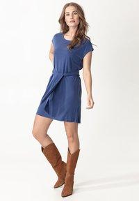 Indiska - ELINORA - Jersey dress - blue - 0