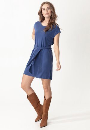 ELINORA - Jersey dress - blue