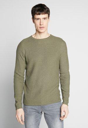 JPRBLUCARLO KNIT CREW NECK - Sweter - dusky green
