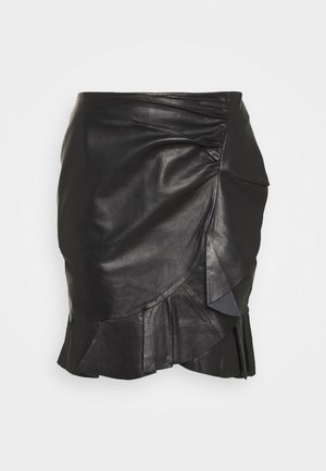 SPRUCIA - Mini skirt - black