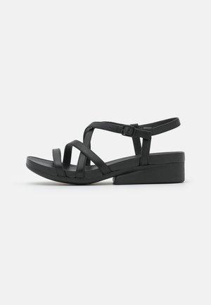 KAHM - Sandaalit nilkkaremmillä - black