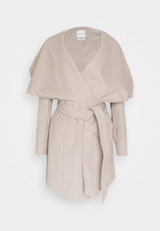 WILLOW WRAP COATS - Zimní kabát - mink