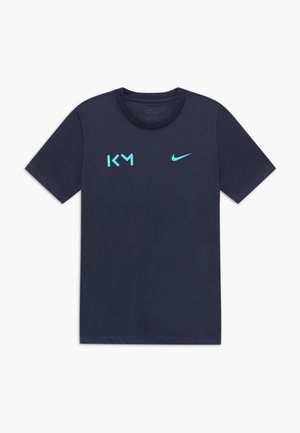 KYLIAN MBAPPE - T-shirt z nadrukiem - obsidian/aurora green