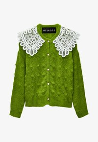 Uterqüe - MIT GUIPURE-BUBIKRAGEN - Cardigan - green - 5