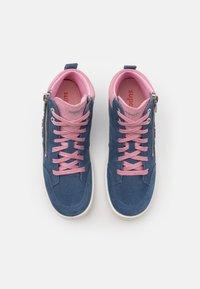 Superfit - TENSY - Vysoké tenisky - blau/rosa - 3