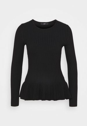PEPLUM SPECIAL - Pullover - black