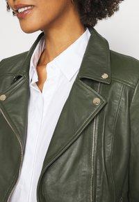 Ibana - FABIENNE - Leather jacket - green - 4