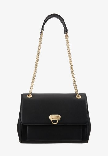 ANGELA FLIP LOCK SHOULDER BAG - Across body bag - black