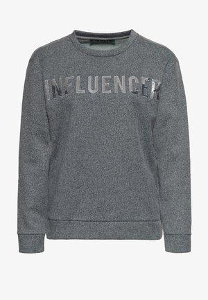MIT PAILLETTEN - Sweater - anthrazit