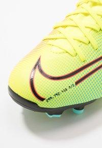 Nike Performance - MERCURIAL JR 7 ACADEMY MDS FGMG UNISEX - Moulded stud football boots - lemon/black/aurora green - 2