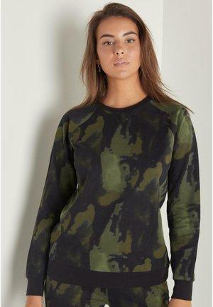 Sweatshirt - nero st.sfumato verde