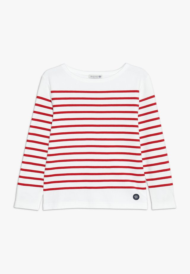MARINIÈRE AMIRAL KIDS - Long sleeved top - blanc/braise