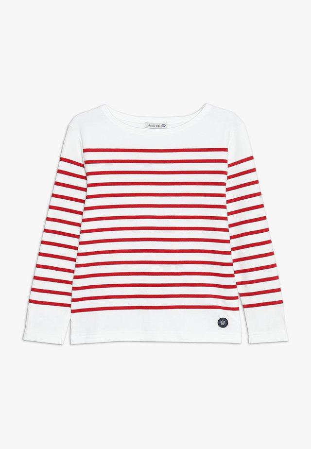 MARINIÈRE AMIRAL KIDS - Maglietta a manica lunga - blanc/braise