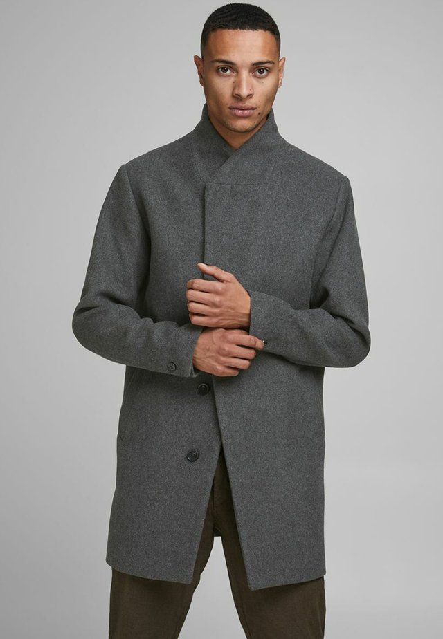 J&J - Classic coat - dark grey melange