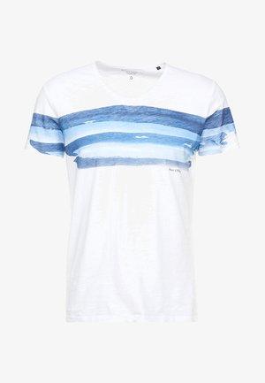 SHORT SLEEVE V-NECK - T-shirt imprimé - white