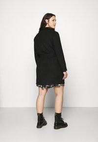 Vero Moda Curve - VMBRUSHEDDORA JACKET - Classic coat - black - 2