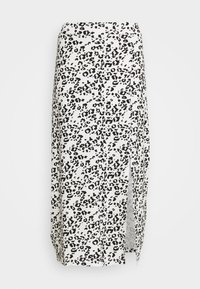 Even&Odd - Falda de tubo - white/black - 3
