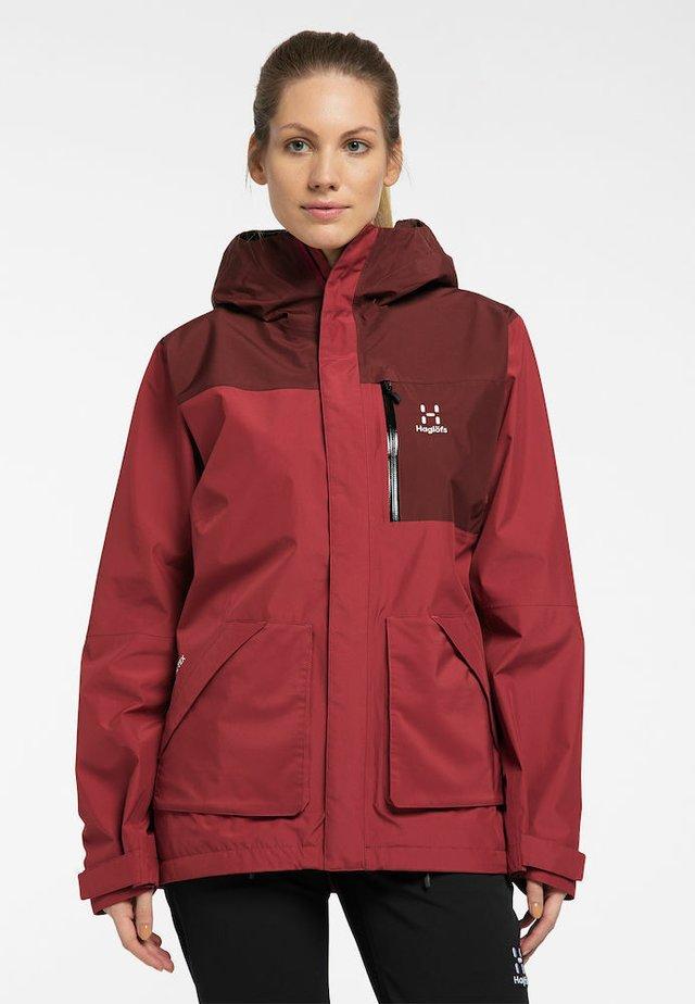 VIDE GTX JACKET - Hardshell jacket - brick red/maroon red
