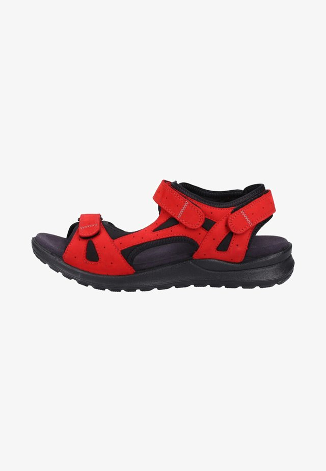 Walking sandals - red