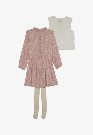 DRESS GILET TIGHTS SET - Vesta - pink
