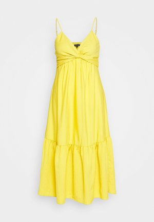 VNECK TWIST FRONT SHEATH SOLID - Vestito estivo - sunglow yellow