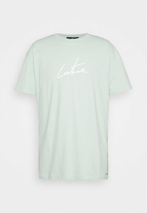 RELAXED FIT REFLECTIVE - Print T-shirt - mint