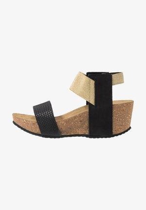 DANIELA  - Platform sandals - black