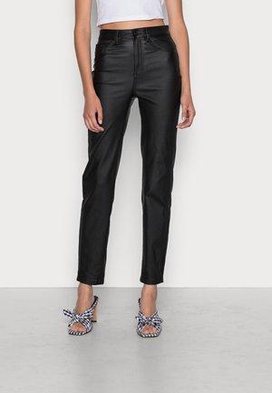 ONLEMILY COATED - Pantalones - black