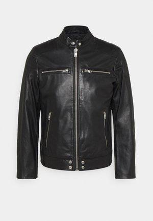 L-BOY - Kožená bunda - black