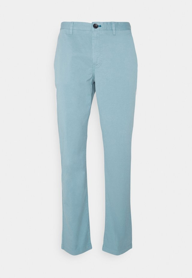 MENS MID FIT STITCHED - Chino kalhoty - blue grey