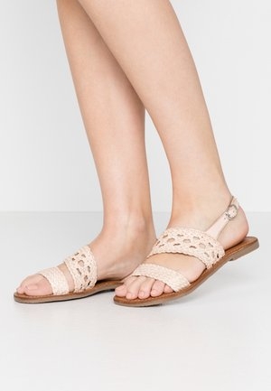 WOVEN - Sandals - natural