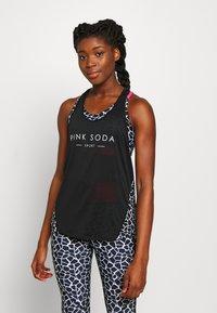 Pink Soda - DECO TANK - T-shirt sportiva - black/white - 0