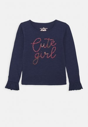 GIRLS - Long sleeved top - medieval blue