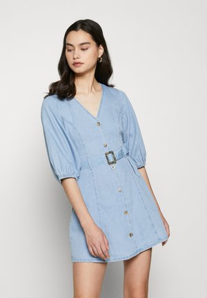 VMCLARISA SHORT DRESS  - Dongerikjole - light blue denim