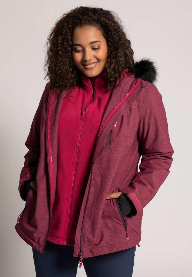 3-IN-1 - Soft shell jacket - bessen-mêlee