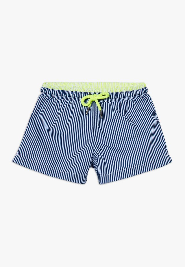 BOYS STRIPE SWIM  - Swimming shorts - navy