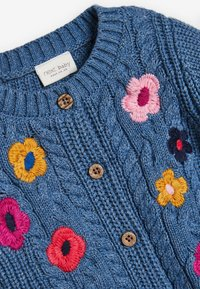 Next - FLORAL EMBROIDERY CARDIGAN - Cardigan - blue - 2