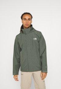 The North Face - SANGRO JACKET - Hardshell jacket - mottled green - 0