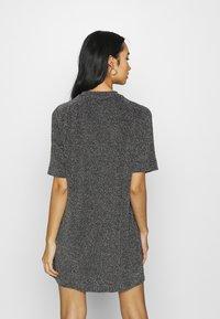 Monki - IZZY DRESS - Jersey dress - black/silver - 2
