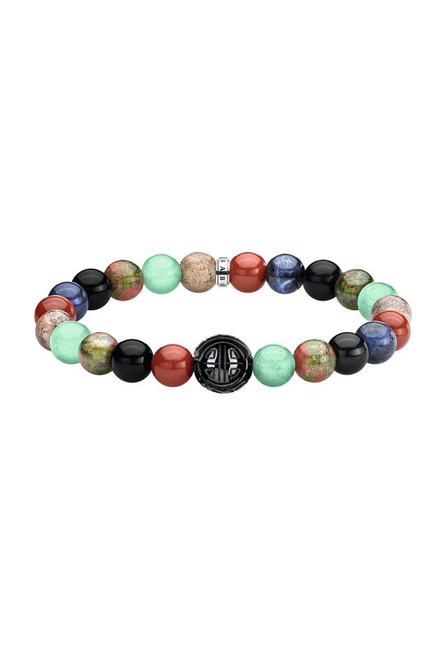 ARMBAND 925 STERLINGSILBER, GESCHWÄRZT - Armband - schwarz, blau, grün, rot, silberfarben, braun