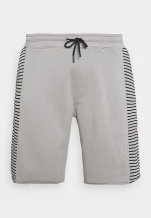 RAW EDGE STRIPE PANEL SHORT - Pantaloni sportivi - grey