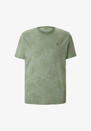 T-shirt print - pistachio white stripe